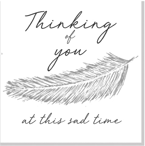 Thinking of you feather... square card