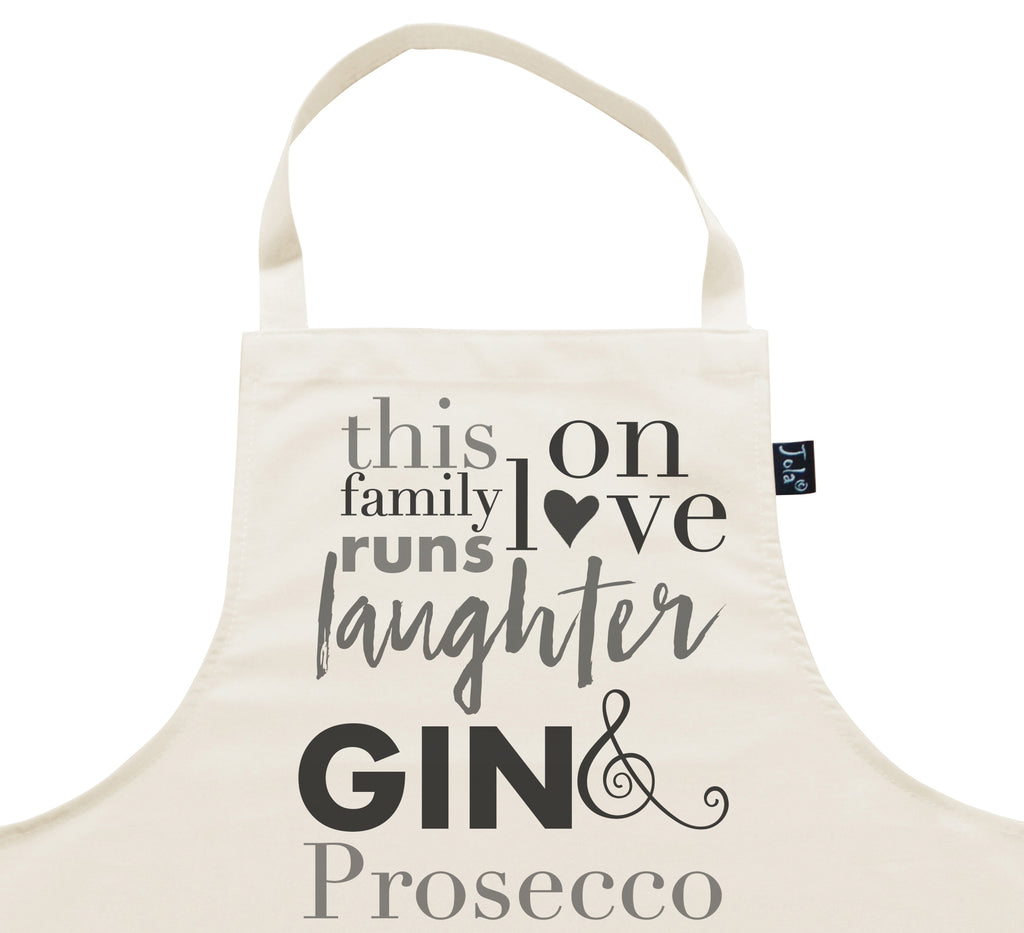 This Family Love Prosecco and Gin Apron