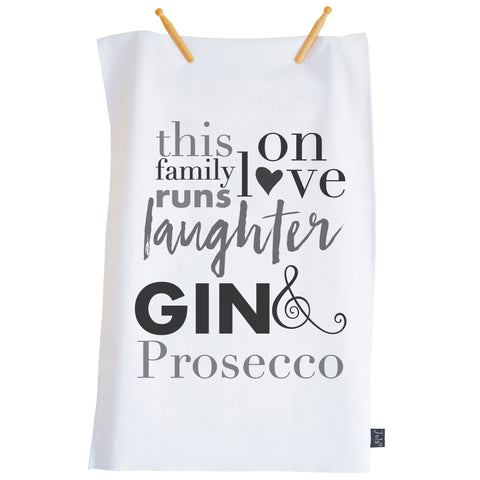 This Family Gin & Prosecco Tea towel