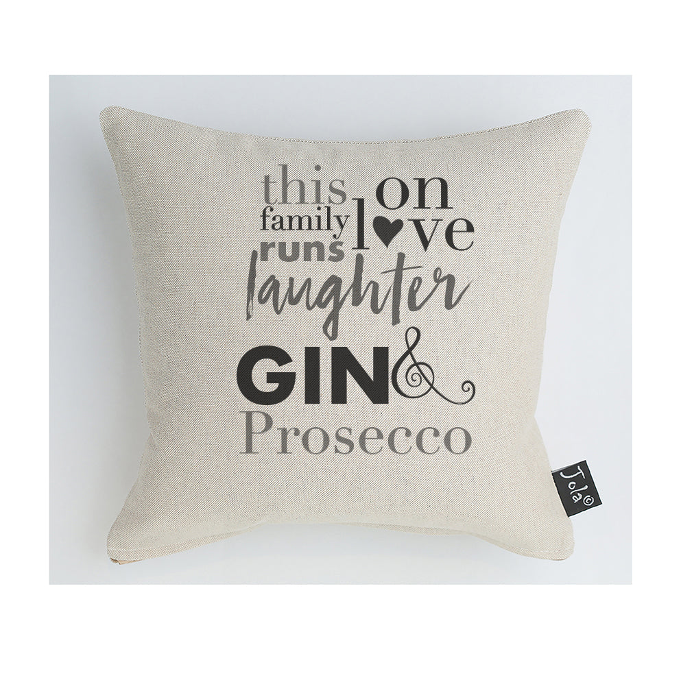 Family Gin & Prosecco cushion