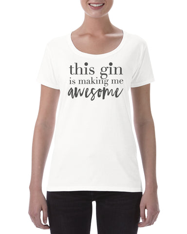 Cotton T Shirt Gin Awesome