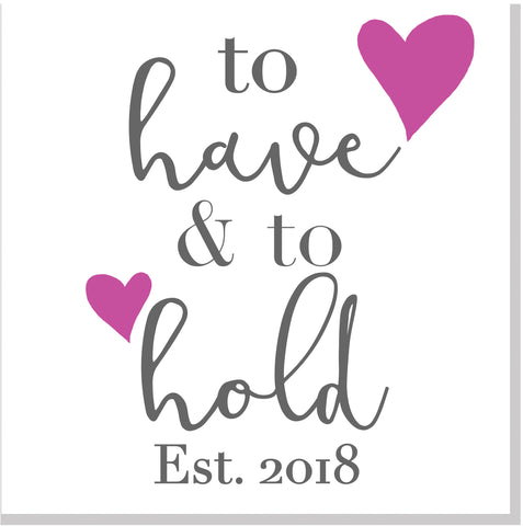 To have and to hold Wedding square card