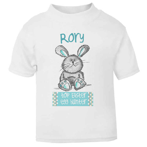 bb0384ddd Personalised Bunny Top Easter Egg Hunter Toddler T Shirt ...