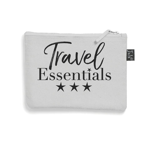 Brushed cotton Travel Essentials make up bag