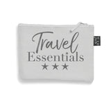 Travel essentials small make up bag grey