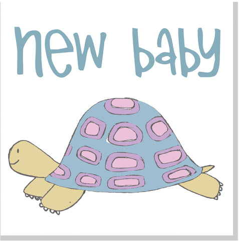New Baby turtle square card