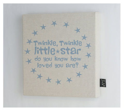 Twinkle Little star canvas frame