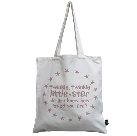 Twinkle Little star pink canvas bag