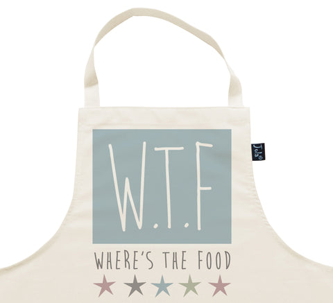 WTF Where's the food Apron
