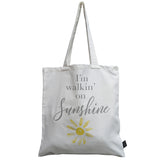 I'm walking on sunshine canvas bag
