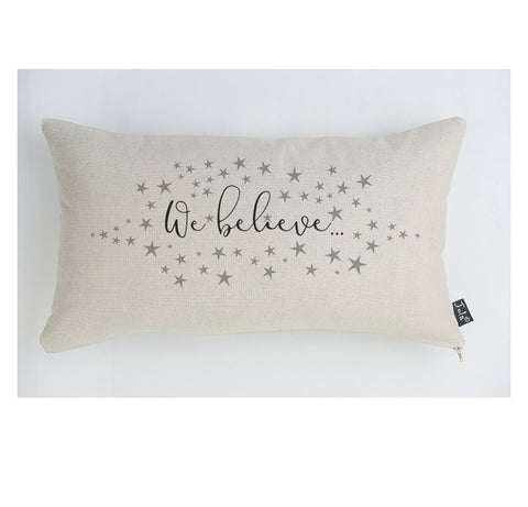 We Believe cushion