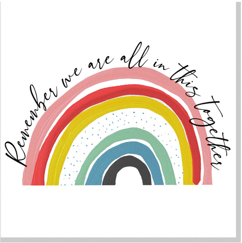 We are in this together Rainbow Square  card
