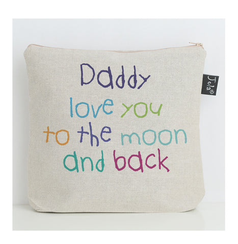 Daddy to the moon wash bag