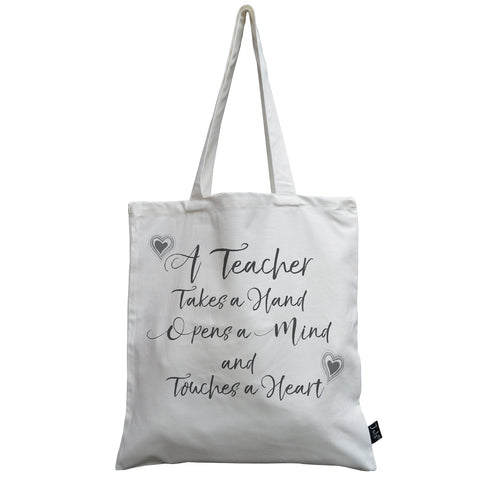Teacher takes a hand Canvas Bag