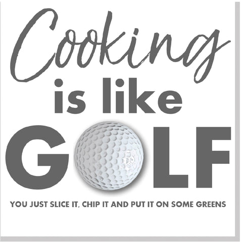 Cooking is like golf square card
