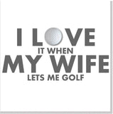 I love my Wife golf square card