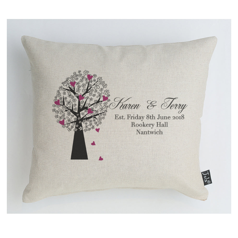 Personalised Wedding Tree cushion