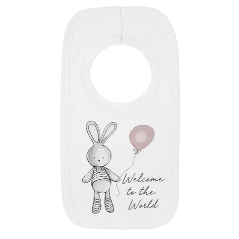 Welcome Balloon Baby Bib
