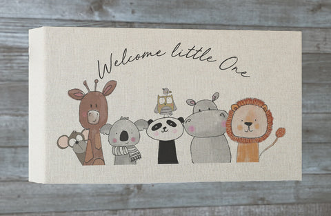 Welcome Animals Long canvas frame