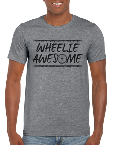 Cotton T Shirt Wheelie Awesome