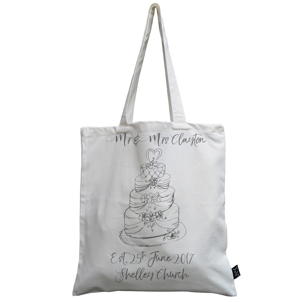 Wedding Cake canvas bag