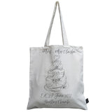 Personalised Wedding Cake canvas bag