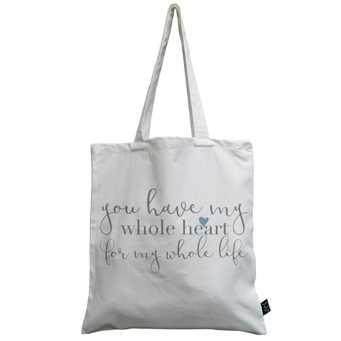 Whole heart canvas bag