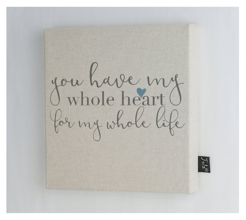 Whole Heart Canvas frame