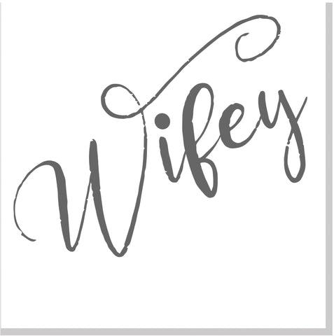 Wifey square card