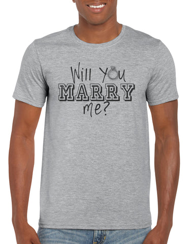 Cotton T Shirt Will you marry me