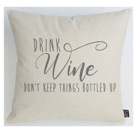 Wine Bottled up cushion