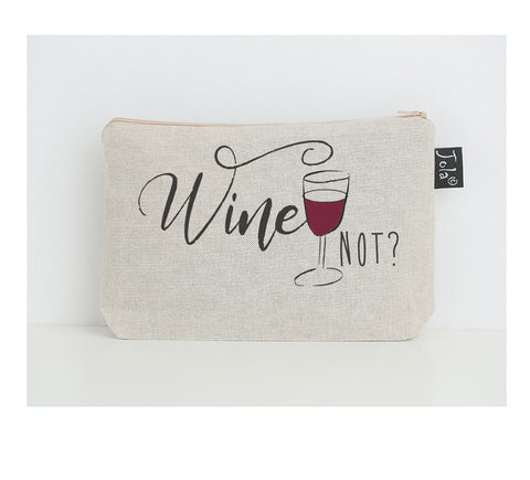 Wine not small Make Up Bag