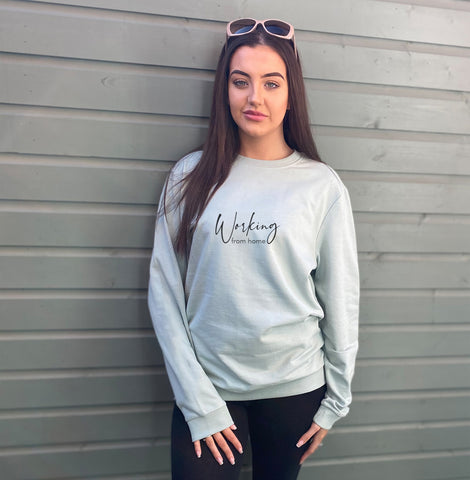 Working from Home Oversized Cotton Mix Sweatshirt