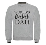 Cotton Sweatshirt World's Bestest Daddy