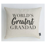 Worlds Greatest Grandad cushion