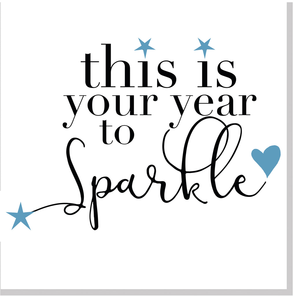 Your year to sparkle square card