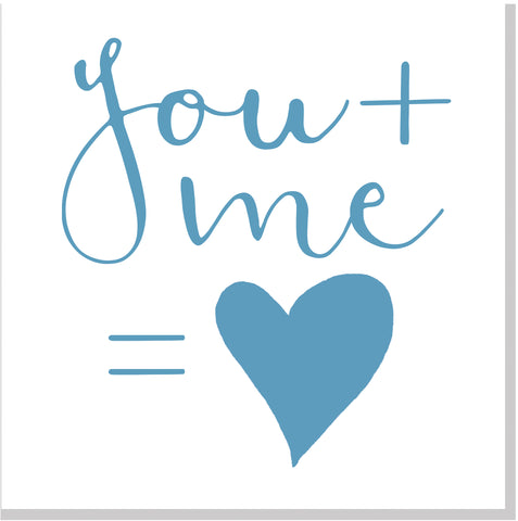 You and me square card