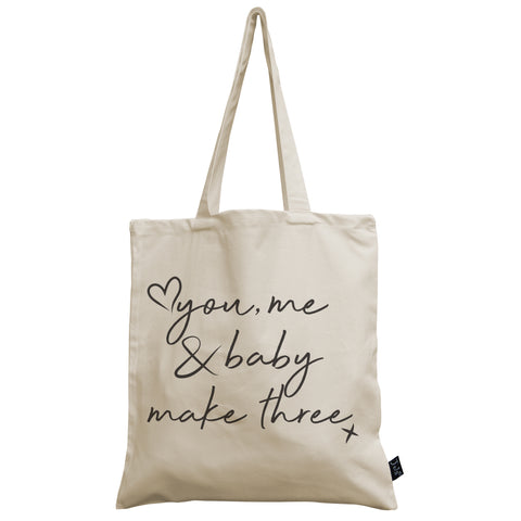 You Me & Baby canvas bag