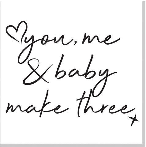 You Me & Baby Square Card