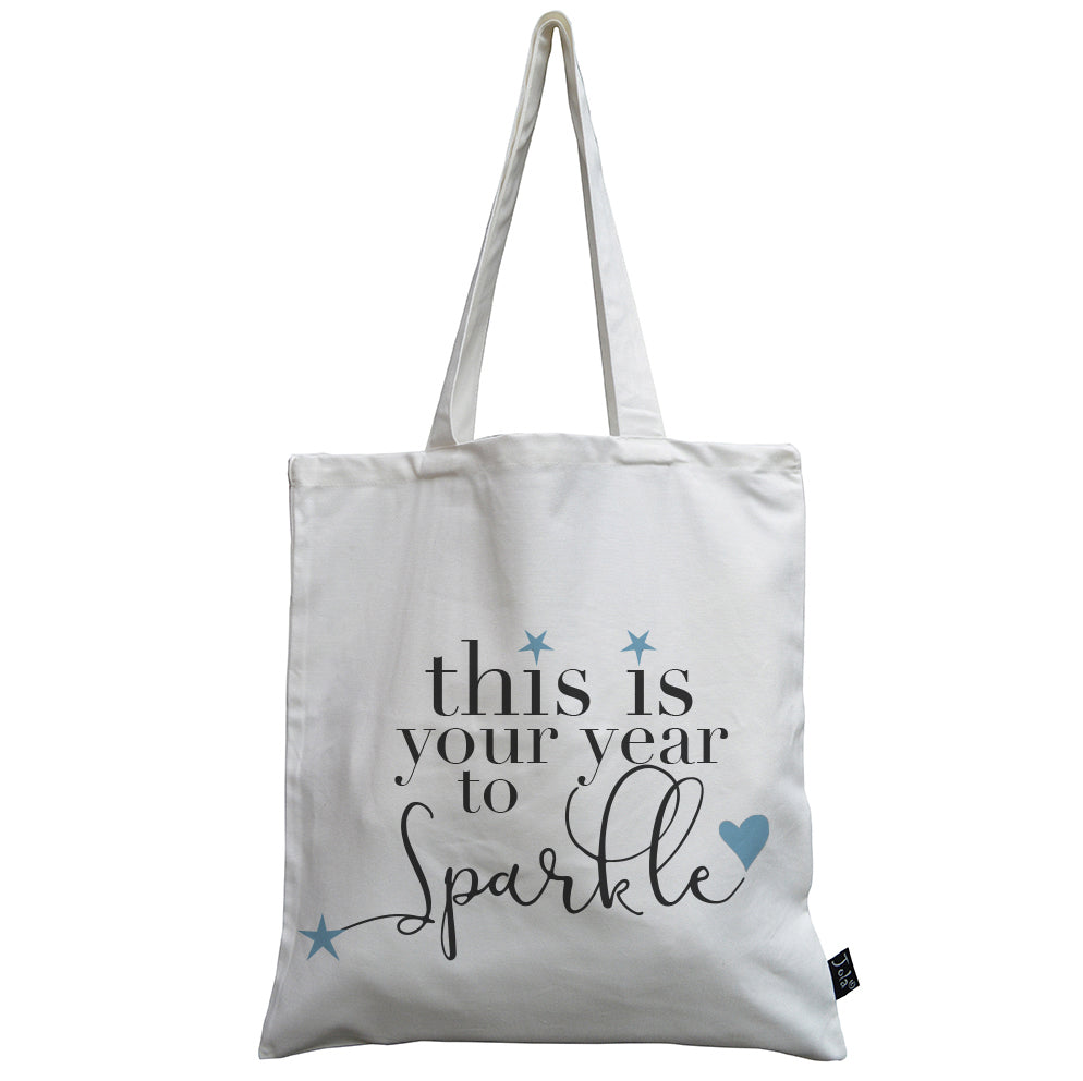 Your year to sparkle canvas bag