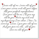 All of Me Loves all of You square card