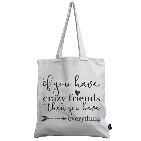Crazy Friends canvas bag
