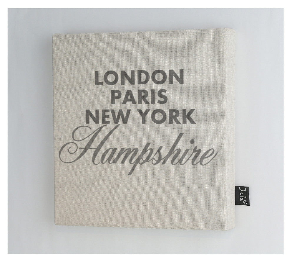 Sparkle City canvas frame