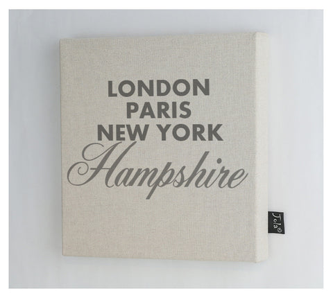 Personalised City Sparkle Canvas Frame