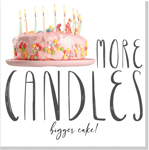 More Candles more cake square card