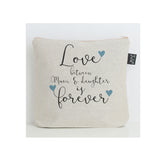 Mum & Daughter forever blue hearts Wash Bag