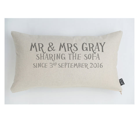 Personalised Sharing The Sofa cushion