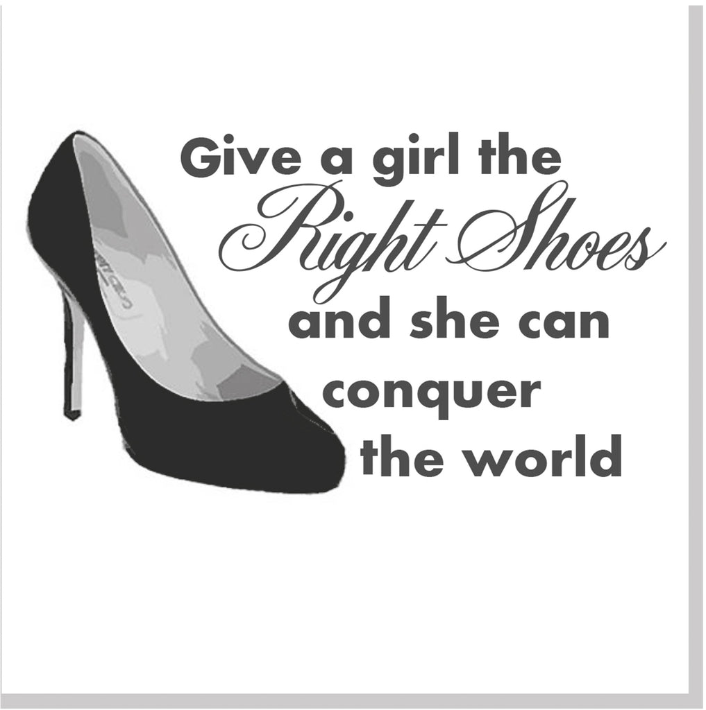 Right shoes square card