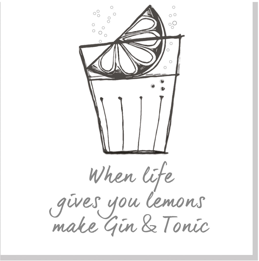 Gin and Tonic square card