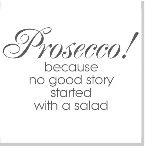 Prosecco salad square card